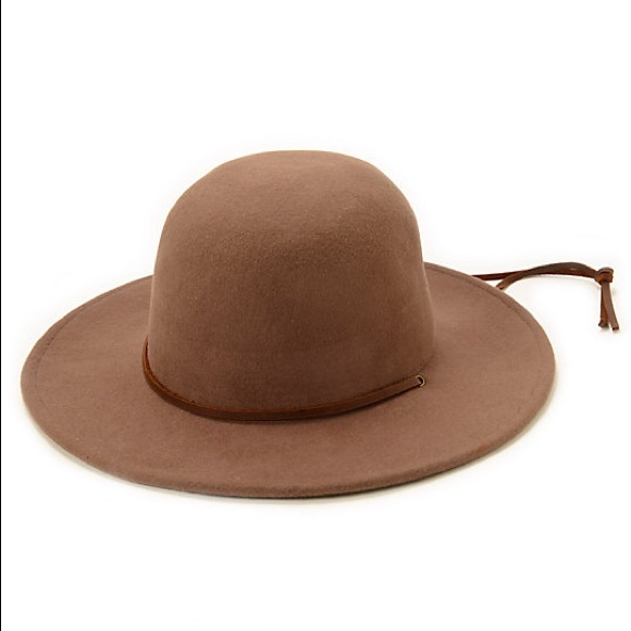 dd5eb0fb5405e Brixton Accessories - Brixton tiller hat in camel with brown leather tie